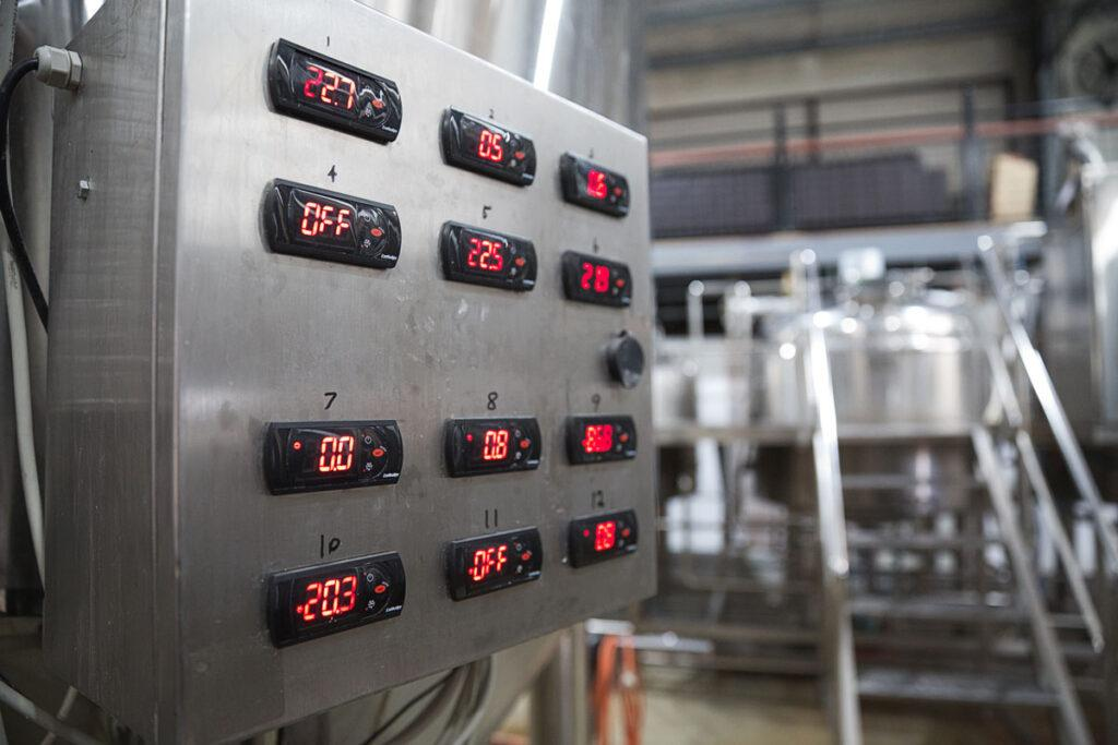 brewing equipment at Dainton Brewery